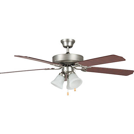Concord by Luminance 52 in. Heritage Home Ceiling Fan with Light Kit, Satin Nickel