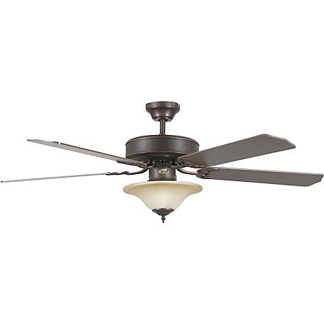 Concord by Luminance 52 in. Heritage Square Ceiling Fan with Bowl Light, Oil Rubbed Bronze