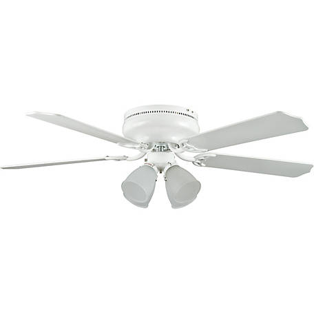 Concord by Luminance 52 in. Montego Bay Deluxe Ceiling Fan with 4-Light Kit, White