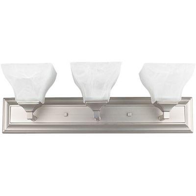 Luminance F3643-80 3-Light Vanity; Bright Satin Nickel