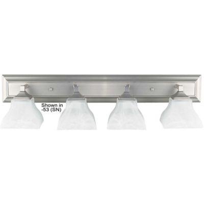 Luminance F3644-80 4-Light Vanity; Bright Satin Nickel