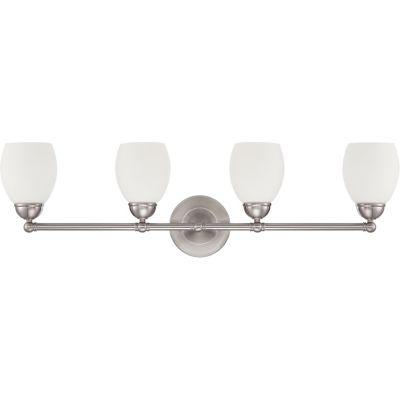 Luminance F2814-80 4-Light Vanity; Bright Satin Nickel