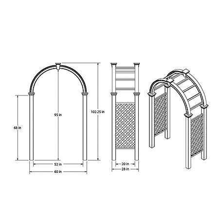 New England Arbors Nantucket Legacy Arbor with Trim