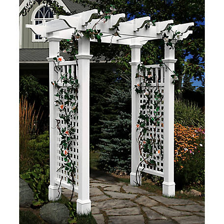 New England Arbors Fairfield Arbor with Trim