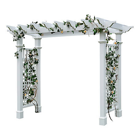 New England Arbors Fairfield Grande Arbor with Trim
