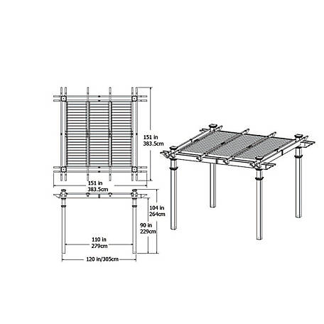 New England Arbors 10 ft. x 10 ft. Avalon Pergola