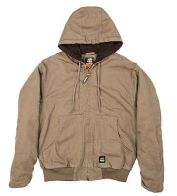 3edc6ec2516a2 Berne Flex 180 Washed Duck Arctic Sherpa-Lined Hooded Jacket