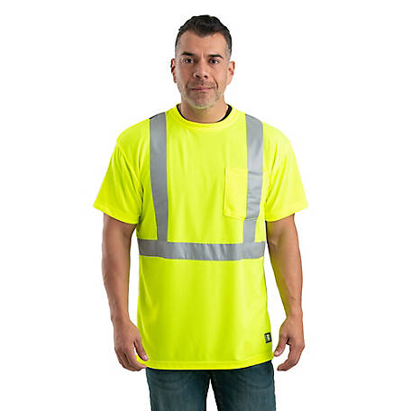 Berne Class 2 Hi-Vis Performance Short Sleeve Pocket T-Shirt