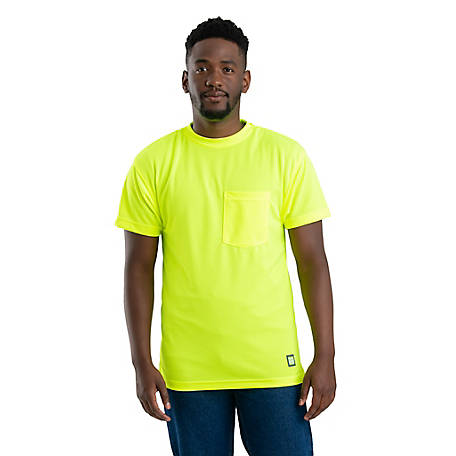 Berne Solid Enhanced Hi-Vis Performance Short Sleeve Pocket T-Shirt