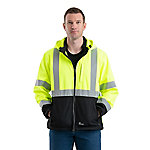 Berne Class 3 Hi-Visibility Softshell Hooded Jacket