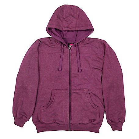 Berne Women's Zip-Front Fleece-Lined Hooded Sweatshirt