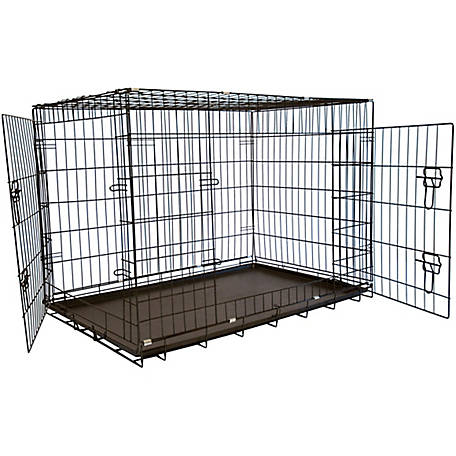 Iconic Pet Foldable Double Door Pet Dog Cat Training Crate with Divider