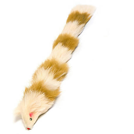 Iconic Pet Multi-Colored Fur Weasel Toy