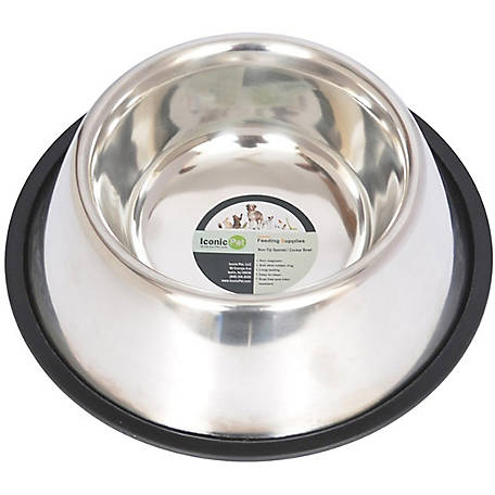 Iconic Pet Non-Skid Spaniel/Cocker Bowl for dog, 8 oz./1 cup