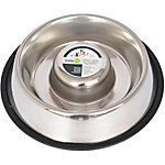 Iconic Pet Slow Feed Stainless Steel Pet Bowl for Dog or Cat, 24 oz.