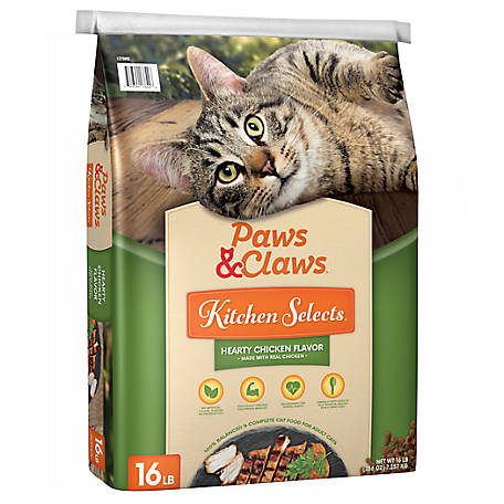 Paws & Claws Kitchen Selects Hearty Chicken Flavor Dry Cat Food, 16lb.
