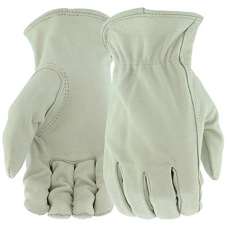 West Chester Men's 3 Pack Grain Pigskin Leather Driver Gloves