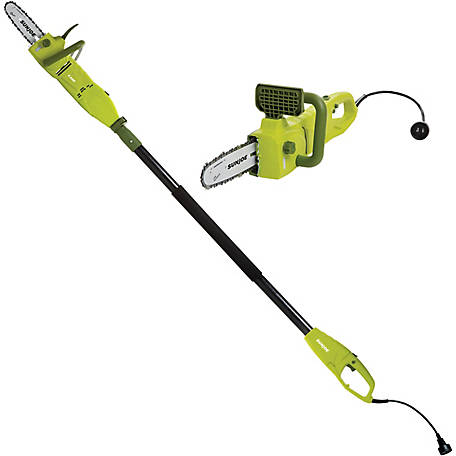 Sun Joe SWJ806E 2-in-1 Electric Convertible Pole Chain Saw, 8 in., 8.0A, Green