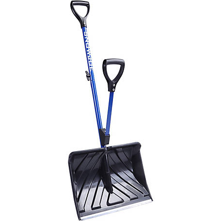 Snow Joe SJ-SHLV01 Shovelution Strain-Reducing Snow Shovel, 18 in., Spring Assisted Handle
