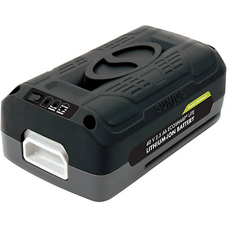 Snow Joe + Sun Joe iBAT40-LT EcoSharp LITE Lithium-Ion Battery, 40V 2.5 Ah