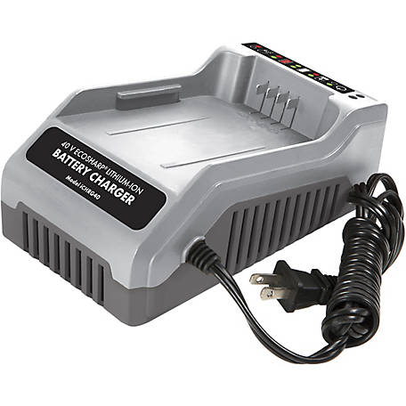 Snow Joe + Sun Joe iCHRG40 EcoSharp Lithium-Ion Battery Charger, 40V 2A