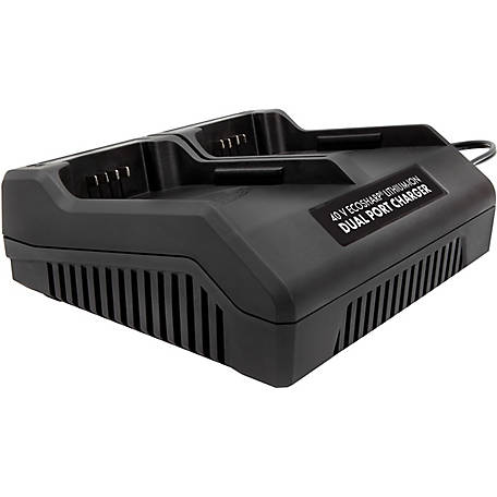 Snow Joe + Sun Joe iCHRG40-DPC EcoSharp Lithium-Ion Battery Dual Port Charger, 40V 1.5A