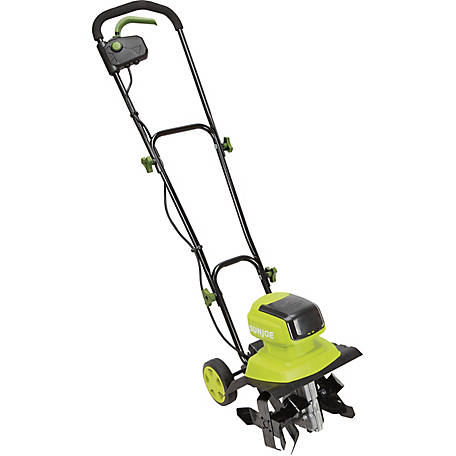 sun joe ion12tl ct cordless garden tillercultivator 12 in 4a core tool only at tractor supply co - Garden Cultivator