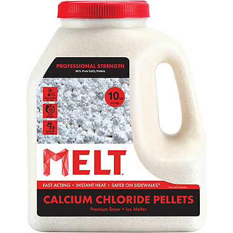 Melt 10 Lb. Jug Calcium Chloride Pellets Professional Strength Ice Melter