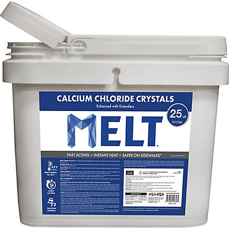 Melt 25 Lb. Bucket Calcium Chloride Crystals Ice Melter