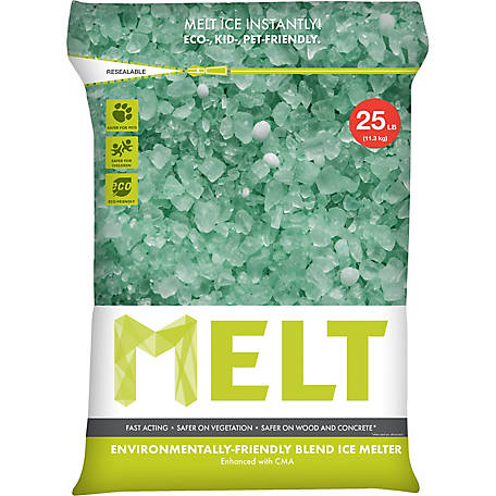 Melt 25 Lb. Resealable Bag Premium Environmentally-Friendly Blend Ice Melter with CMA