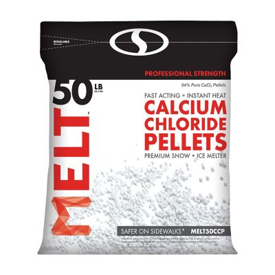 Buy Melt 50 Lb. Resealable Bag Calcium Chloride Pellets Professional Strength Ice Melter Online