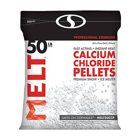 Melt 50 Lb. Resealable Bag Calcium Chloride Pellets Professional Strength Ice Melter