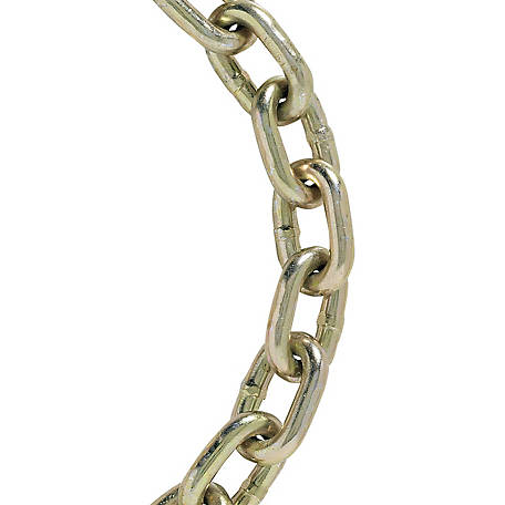 Koch Industries Grade 70 Transport Chain, Yellow Chromate, 1/4 in. dia., 10 ft. Length, 1 Each, A03212