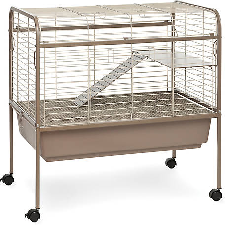 Prevue Pet Products Small Animal Cage with Stand 425, Coco and White, 33-1/2 in. x 20-1/2 in. x 33 in.