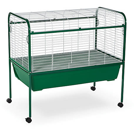 Prevue Pet Products Small Animal Cage with Stand 520, Green and White, 40 in. x 22 in. x 37 in.