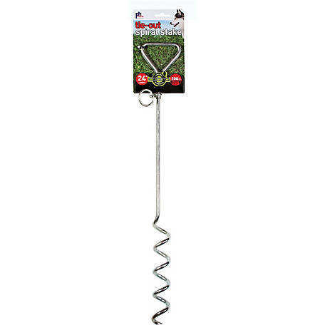 Prevue Pet Products Heavy-Duty 24 in. Spiral Tie-Out Stake 2112