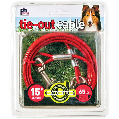 Prevue Pet Products Medium-Duty 15 ft. Tie-Out Cable 2119