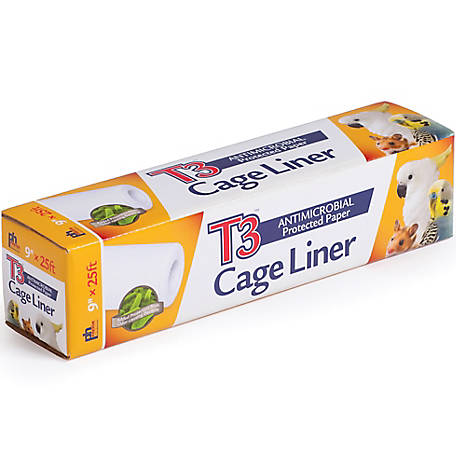 Prevue Pet Products T3 Antimicrobial Cage Liner, 9 in. x 25 foot roll
