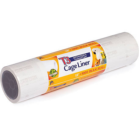 Prevue Pet Products T3 Antimicrobial Cage Liner, 18 in. x 100 foot roll