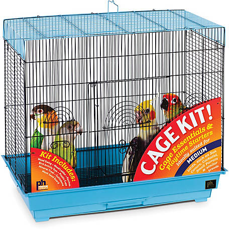Prevue Pet Products Flight Bird Cage Kit Blue & Black 91340