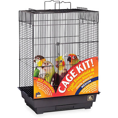 Prevue Pet Products Play Top Bird Cage Kit Black 91351