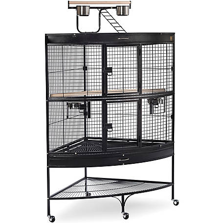 Prevue Pet Products Corner Parrot Cage, Black, 45 in. x 30 in. x 69 in.