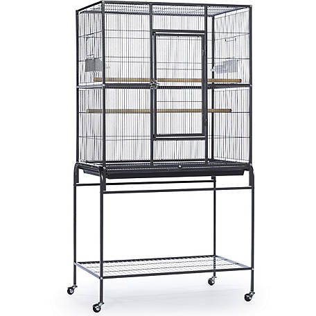 Prevue Pet Products Wrought Iron Flight Cage With Stand Chalk
