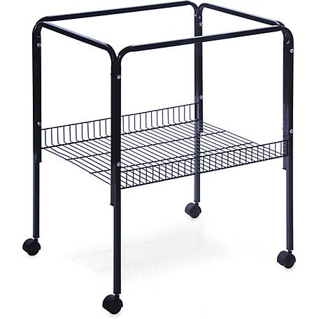 Prevue Pet Products Rolling Stand with Shelf Black SP2521S