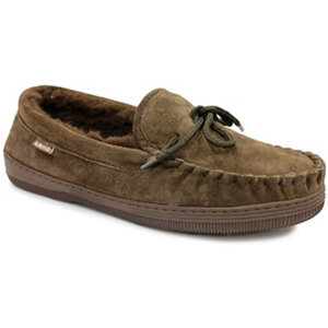86ad4dee82e0 Lamo Men s Fleece Moccasin Slippers