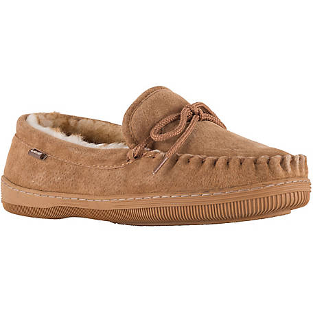 Lamo Men's Fleece Moccasin Slippers