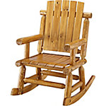 Red Shed Log Rocker, Light Maple