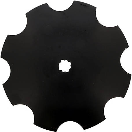 Disc Blade 16 x 11G (3.0mm) Notched Edge, Axle Size 7/8 in. Square x 1 in. Round