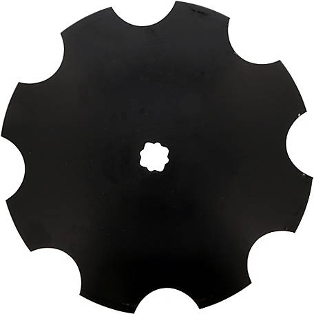 Disc Blade 16 x 11G (3.0mm) Notched Edge, Axle Size 1 in. Square x 1-1/8 in. Square