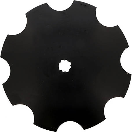 Disc Blade 16 x 9G (3.5mm) Notched Edge, Axle Size 1 in. Square x 1-1/8 in. Square